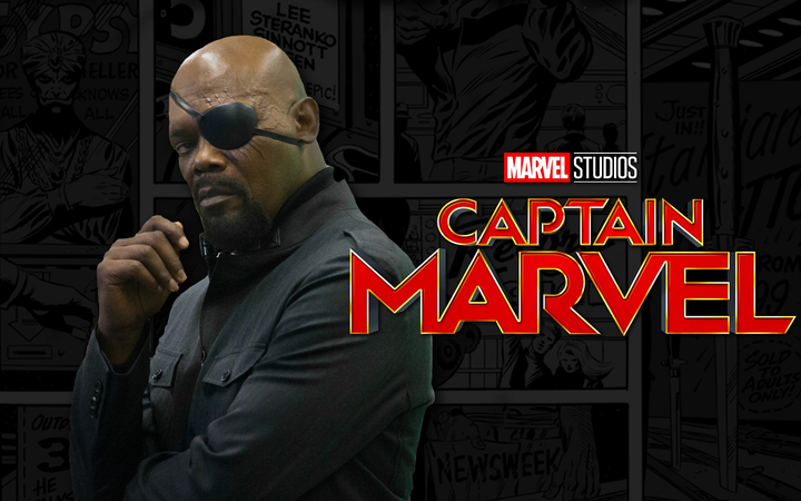 captain marvel et nick fury