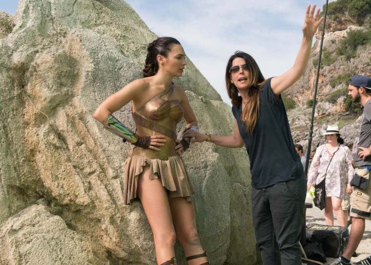 Patty Jenkins and Gal Gadot Courtesy of Warner Bros.