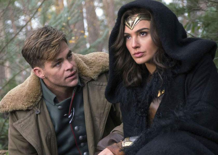 Steve Trevor and Diana in Wonder Woman