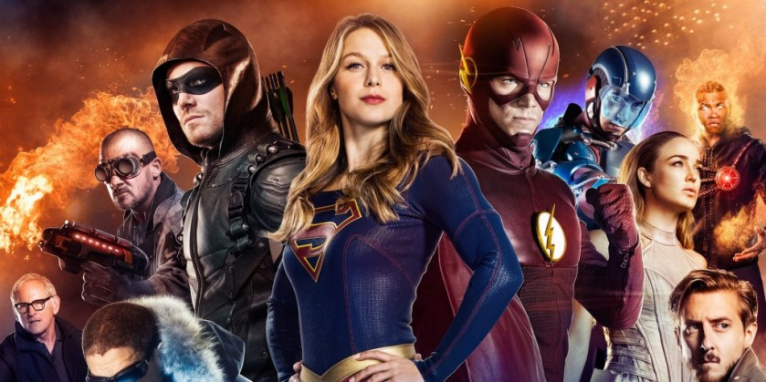 Supergirl, flash, arrow, legends banner