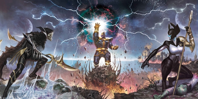 Thanos-and-Black-Order-Members-Proxima-Midnight-and-Corvus-Glaive-from-Marvels-Infinity-Comic