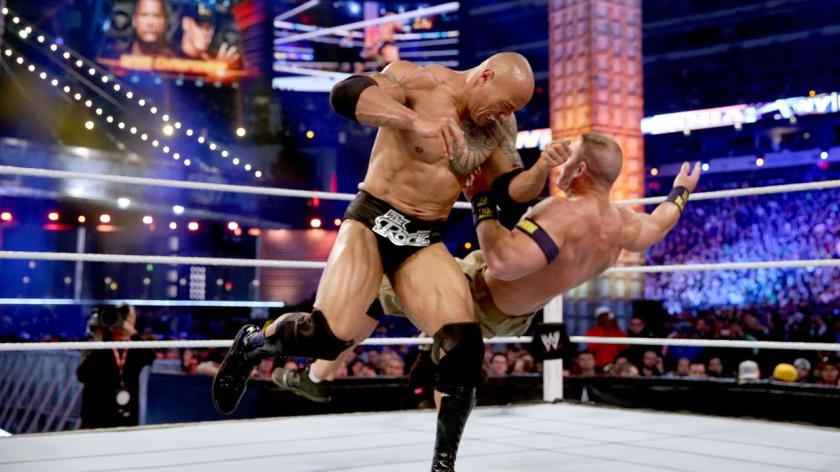 john cena vs the rock-action