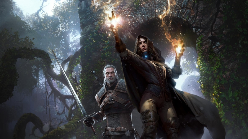 Geralt and Yennefer Witcher 3 poster