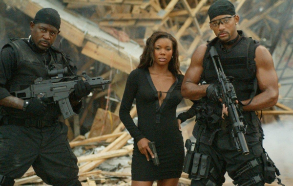 Martin Lawrence, Gabrielle Union and Will Smith in Bad Boys 2 Courtesy of Columbia Pictures