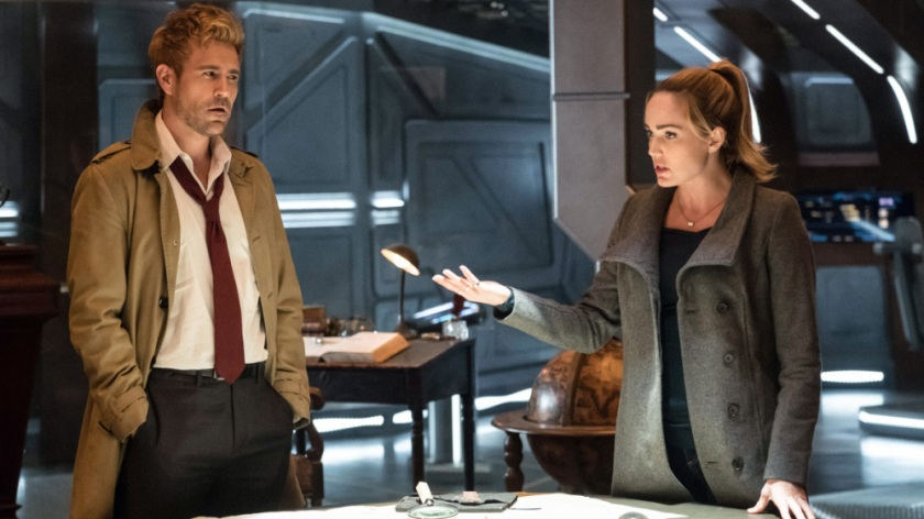 Matt Ryan's Constantine and Caity Lotz' Sara Lance Courtesy of The CW