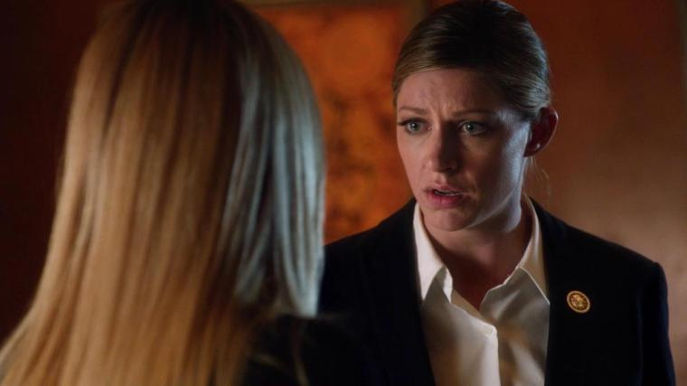 Caity Lotz and Jes Macallan on Legends Courtesy of The CW