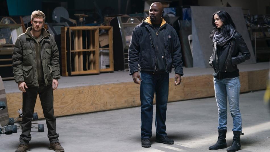 Danny Rand, Luke Cage, and Jessica Jones Courtesy of Marvel/Netflix