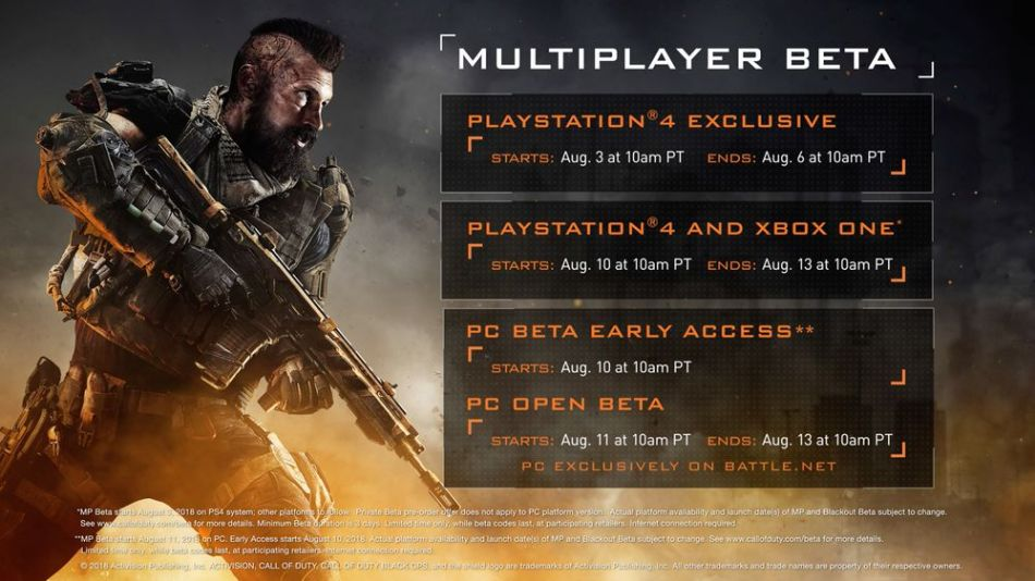 Black Ops 4 Multiplayer Beta Graphic Courtesy of Activision