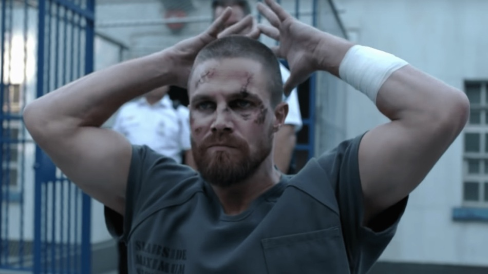 Stephen Amell in Arrow Season 7 Courtesy of The CW